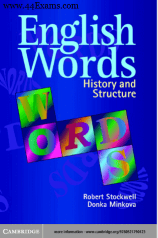 English-Words-History-and-Structure-by-Robert-Stockwell-PDF-Book