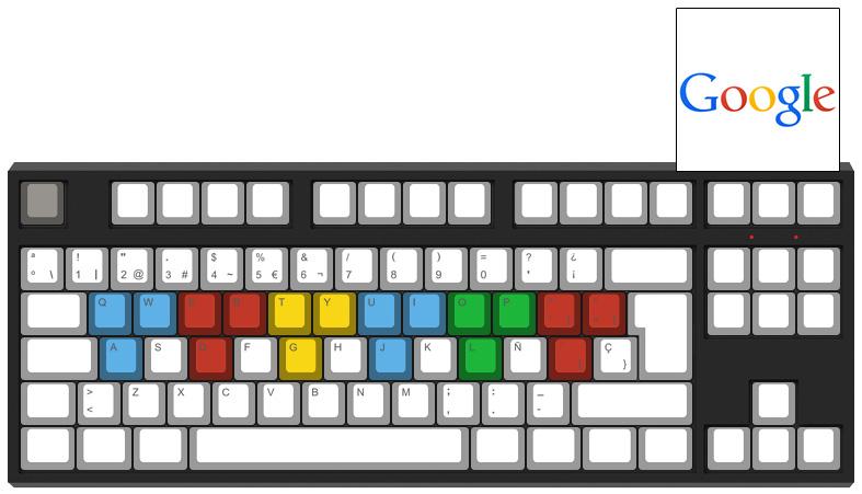 Google abstracto - Diseño teclado mecánico - dPunisher