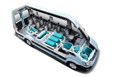 Hyundai H350 Bus Fuel Cell Concept (2016) Front Side X-Ray