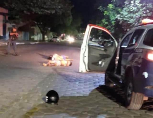 acidente com moto fugindo da PM