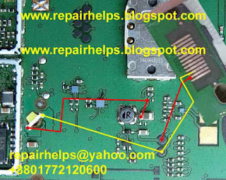 Free Download nokia 1616 light problem At First Check your device motherboard led light use avo miter if your device led is ok then check this line follow this image. if you find any line is short just connect this line use copier coil. if you need more help please comment. i am available for reply your comments thank you.