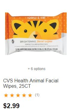 FREE CVS Health Facial Wipes at CVS