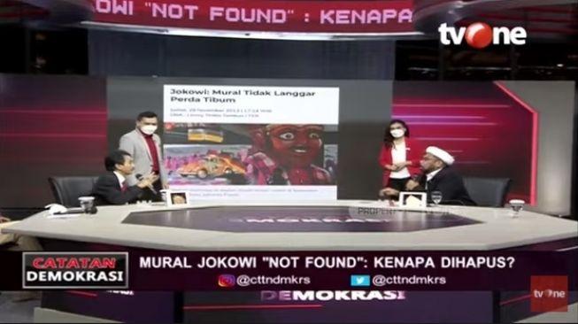 PANAS! Ngabalin Ngegas ke Roy Suryo & Said Didu Soal Mural Jokowi '404: Not Found'