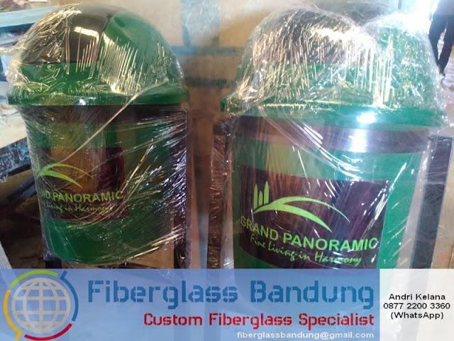 tong sampah fiber model bulat