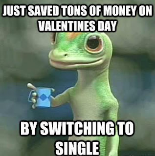 Single on Valentines Day funny facebook quoteFunny Lizard Jokes