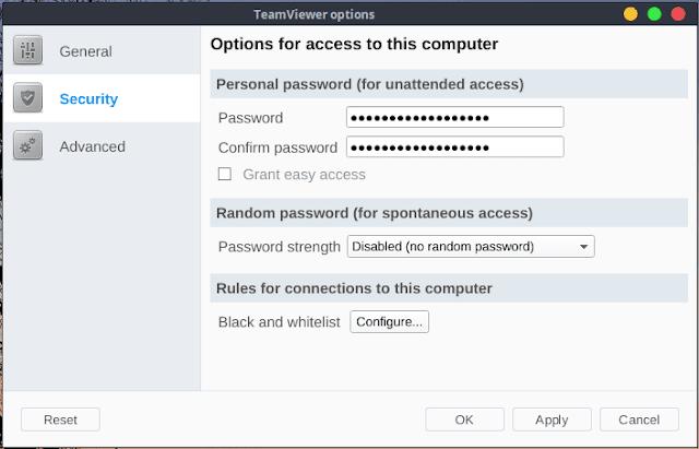 Cara Setting Agar Password Team Viewer Tidak Berubah