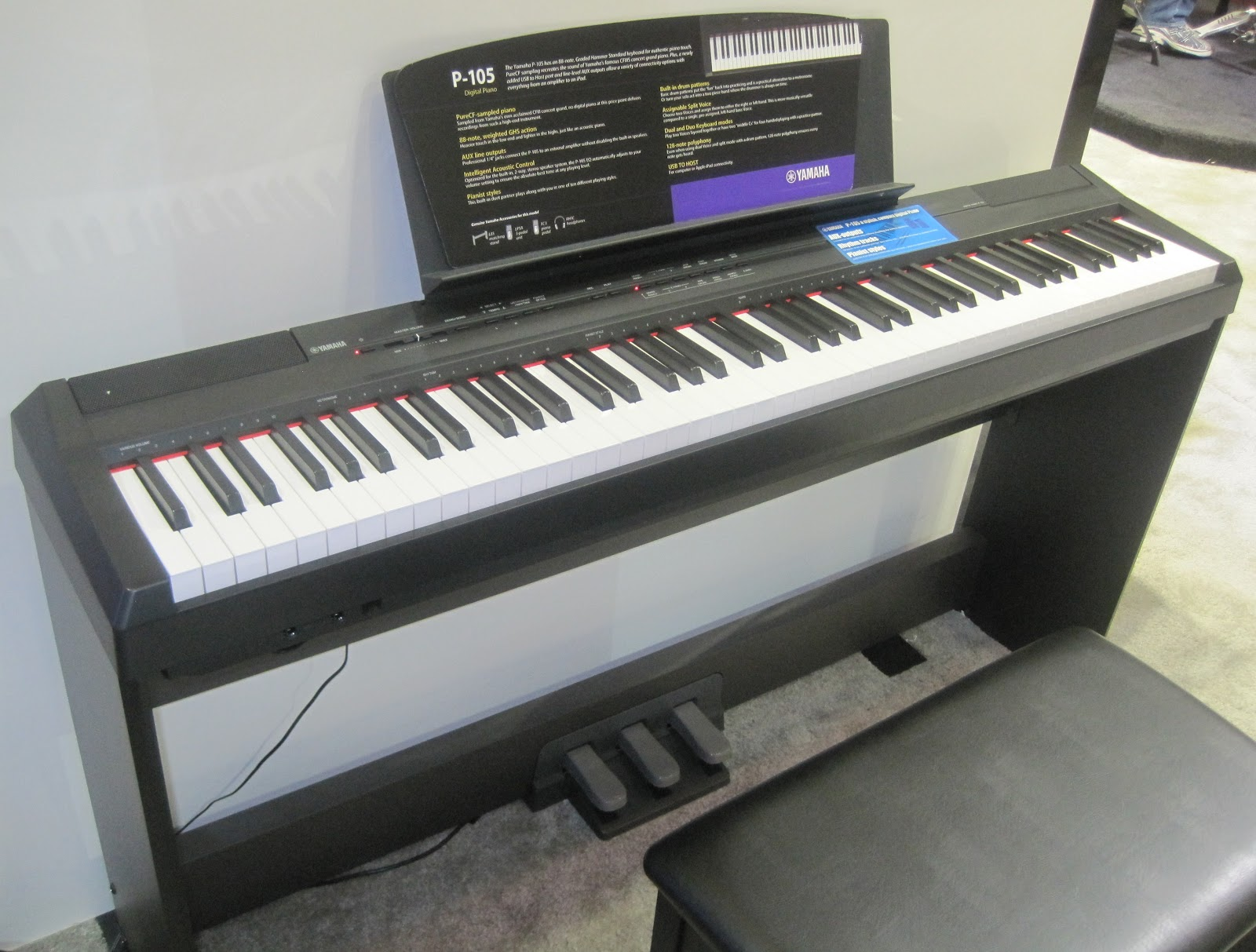 Az piano reviews review yamaha piaggero digital piano for Yamaha piano com