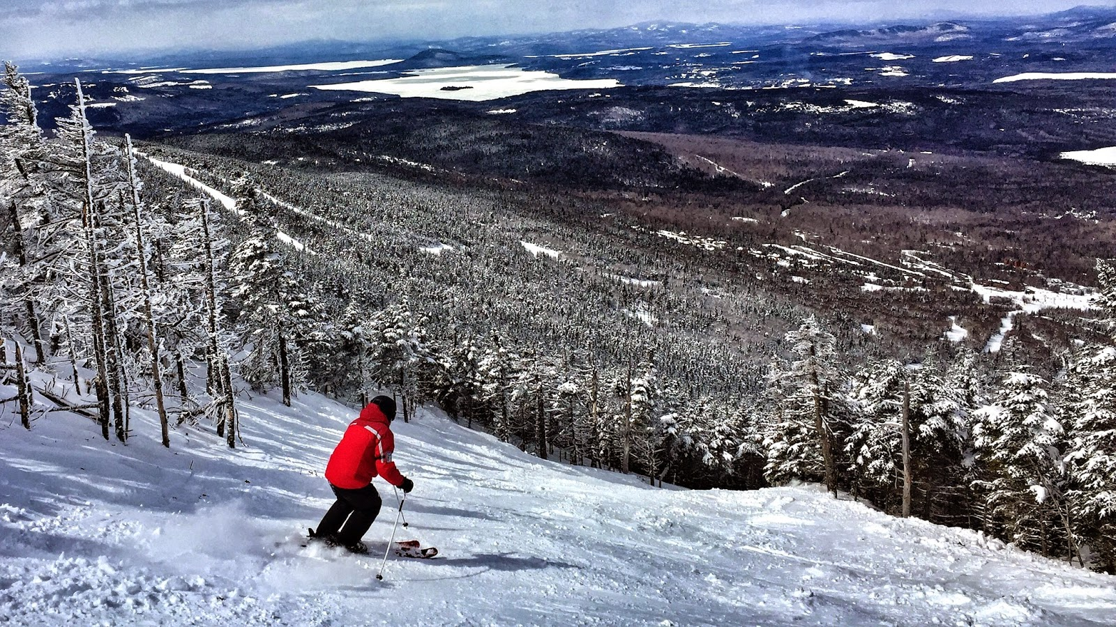 a family skiing in maine: saddleback maine must not become a lost