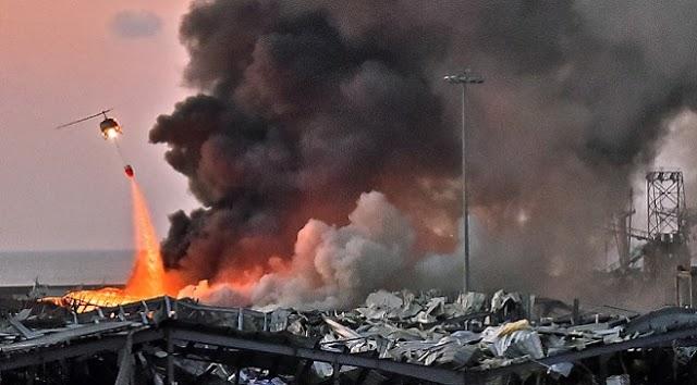 Beyrut'taki patlamada Lübnan Elektrik Kurumu binası tamamen yıkıldı