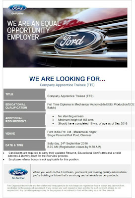 Diploma Jobs in Ford