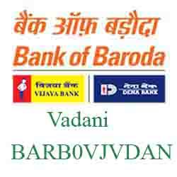 Vijaya Baroda Bank Vadani Branch New IFSC, MICR