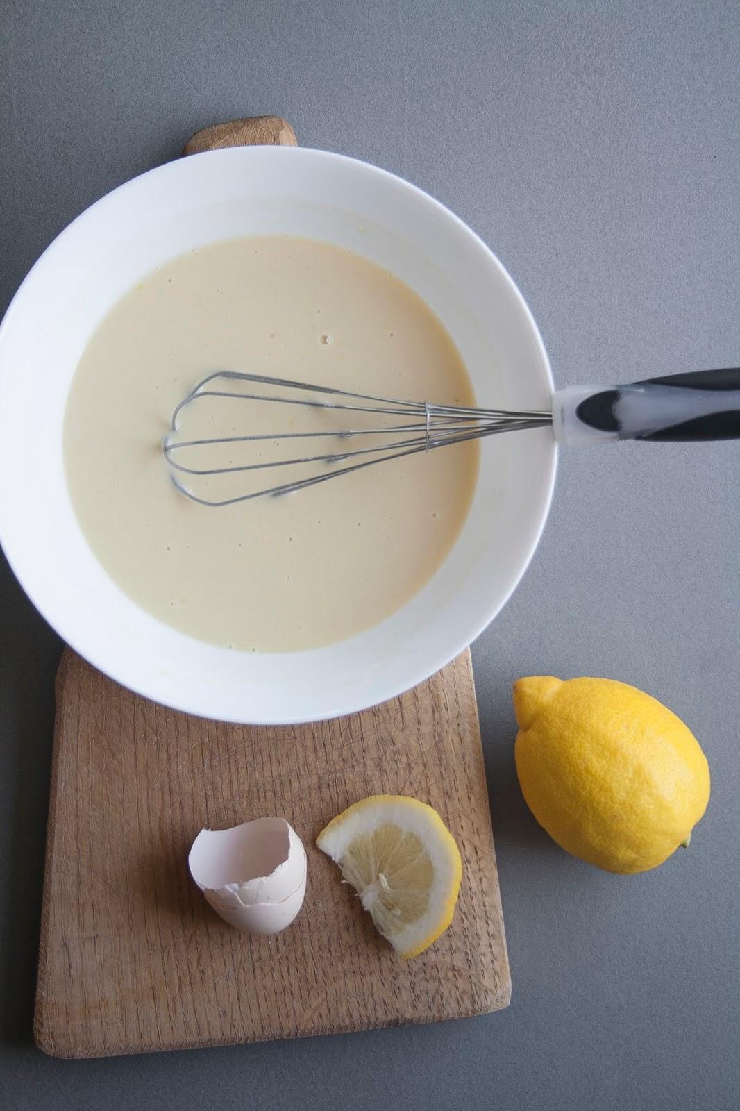 preparazione pancake al limone
