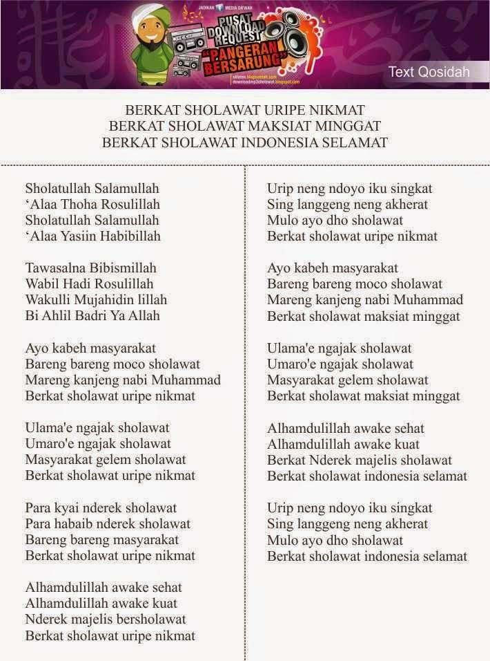 Download Mp3 Gratis Sholatullah Salamullah : download, gratis, sholatullah, salamullah, Lirik, Sholawat, Berkat, Shalawat, Maksiat, Minggat