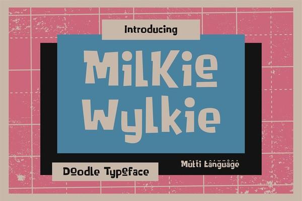 Milkie Wylkie Doodle Typeface Font