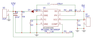 5V to 12V Voltage Circuit Diagram