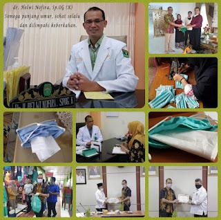dr. Helwi Nofira, Produksi dan Bagikan 2.500 Masker ke Masyarakat Kota Solok