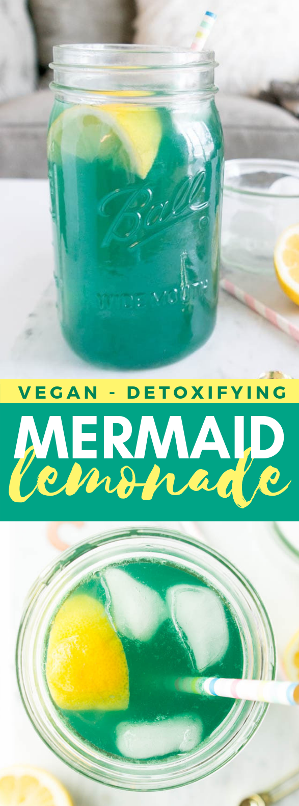 Mermaid Lemonade #drinks #spirulina