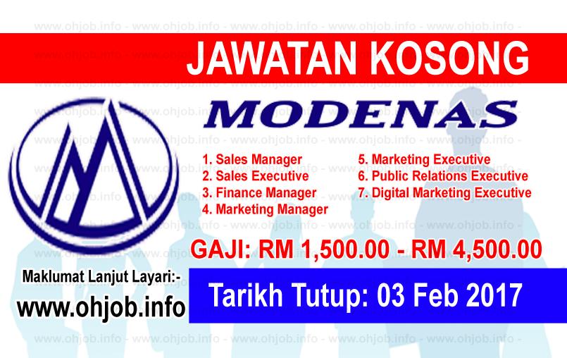 Jawatan Kerja Kosong Motosikal Dan Enjin Nasional (MODENAS) logo www.ohjob.info februari 2017