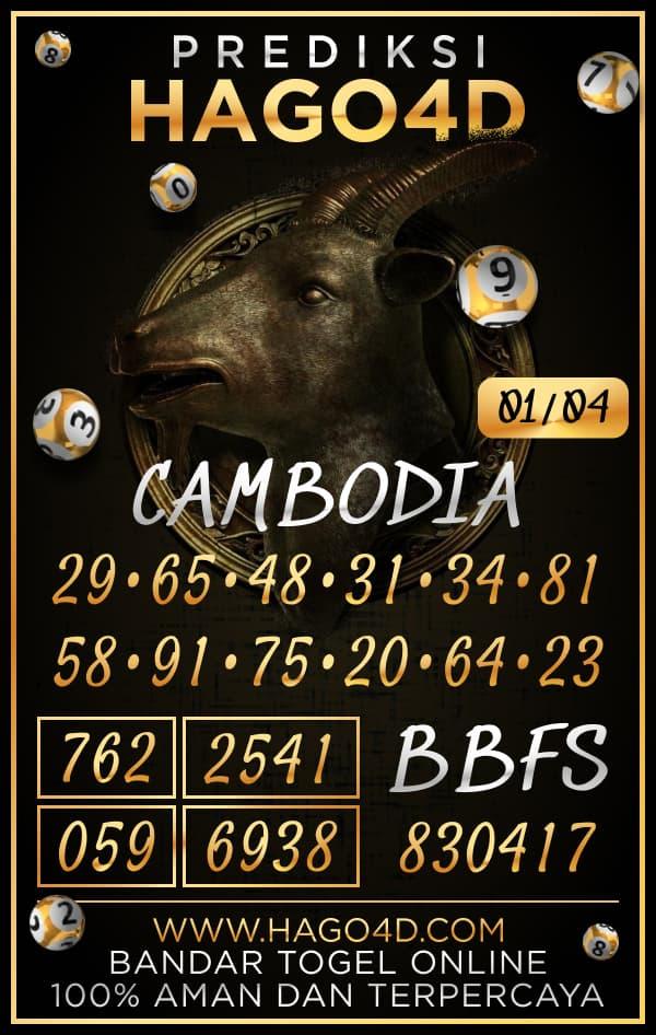Prediksi Hago4D - Kamis, 1 April 2021 - Prediksi Togel Cambodia