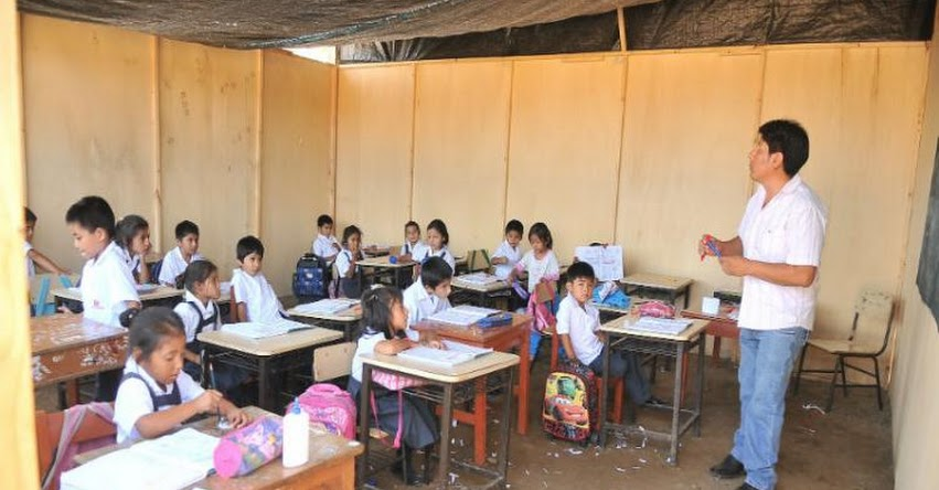 Niños de inicial comenzarán sus clases en aulas prefabricadas - GRE La Libertad