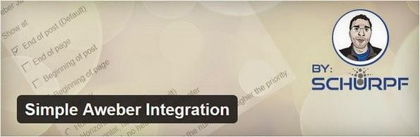 Simple Aweber Integration for WordPress