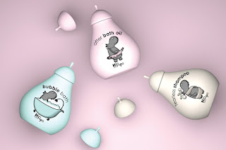 baby bath products packaging design