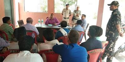 करैरा एसडीओपी एवं टीआई ने ली कोचिंग संचालको की बैठक | Karera News