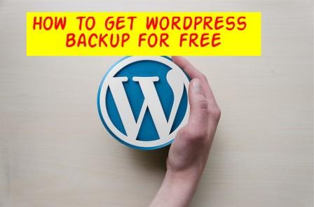 वर्डप्रेस का फ्री में बैकअप कैसे लें ? Guide