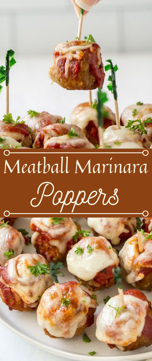 MEATBALL MARINARA POPPERS APPETIZER #dinner #healthyrecipes #shrimp #noodles #meatball