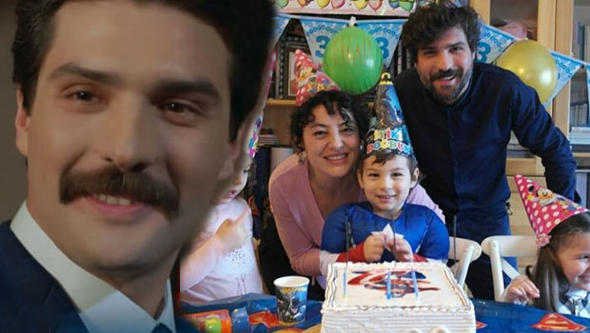 Cemal Toktaş și frumoasa sa soție, Nergis Öztürk impreuna cu fiul lor Yaman