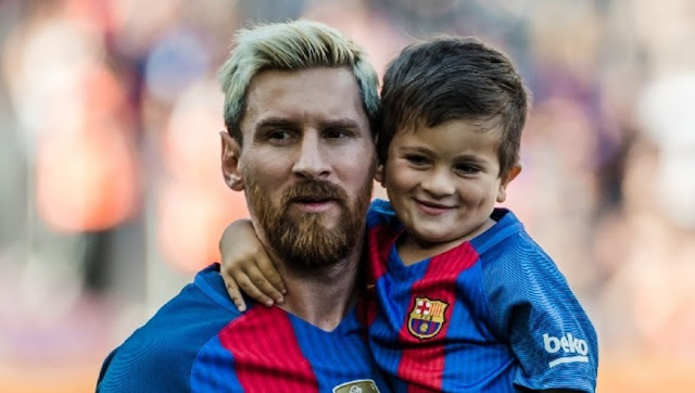 fils Messi papa