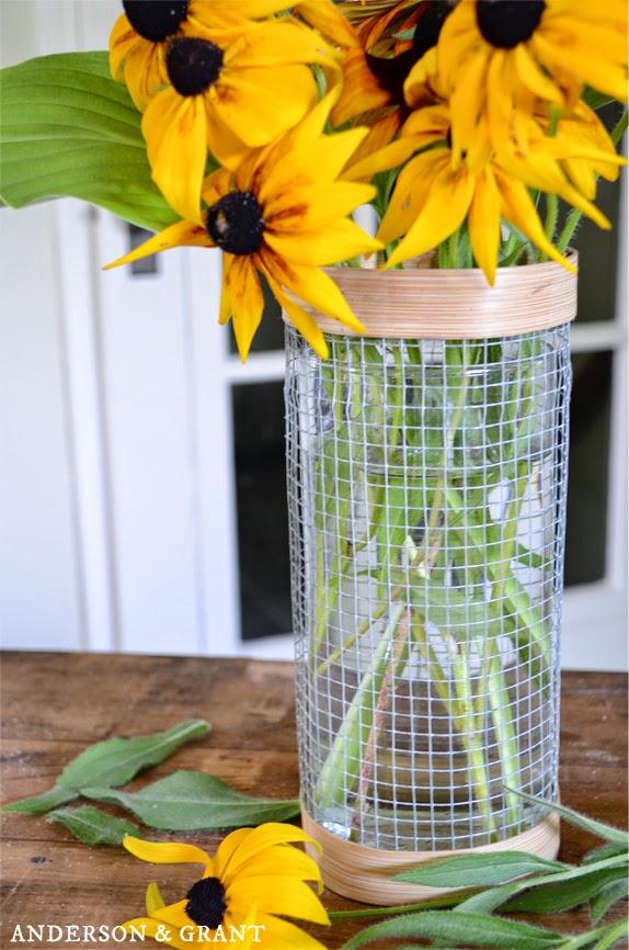 DIY Hardware Cloth Vase | Anderson + Grant