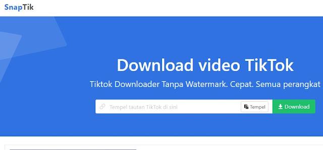 Download Video TikTok Tanpa Watermark di Laptop Menggunakan SnapTik