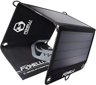 Foxelli Dual USB 10W Portable Solar Charger