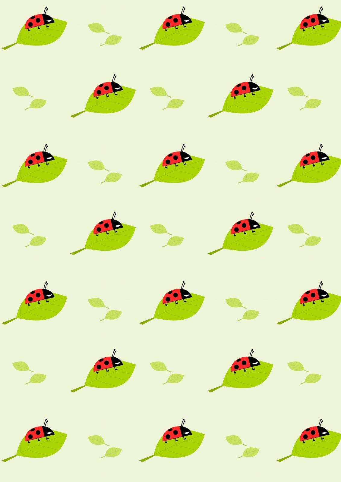 Free Digital Ladybug Scrapbooking Paper