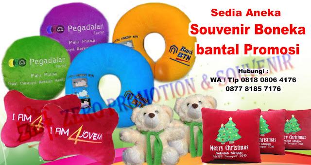 Boneka Bantal Promosi, boneka maskot, boneka souvenir, boneka merchandise, Bantal Promosi Souvenir Promosi Hotel, Bantal Leher, Bantal Kepala, Bantal Pameran, Bantal Ulang Tahun, Bantal Persegi Panjang