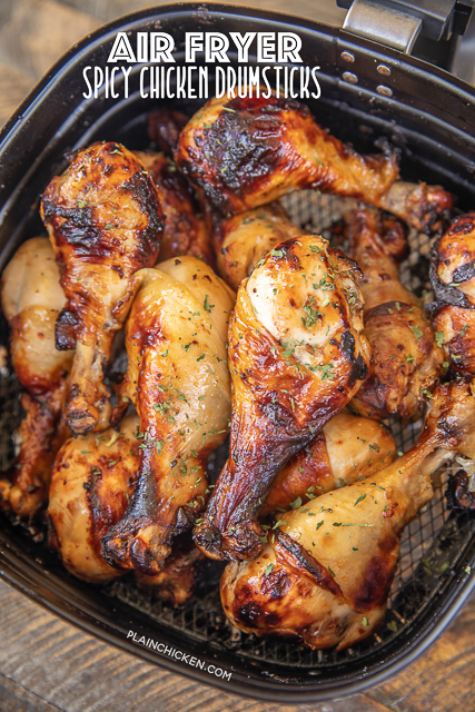 chicken drumsticks in air fryer basket