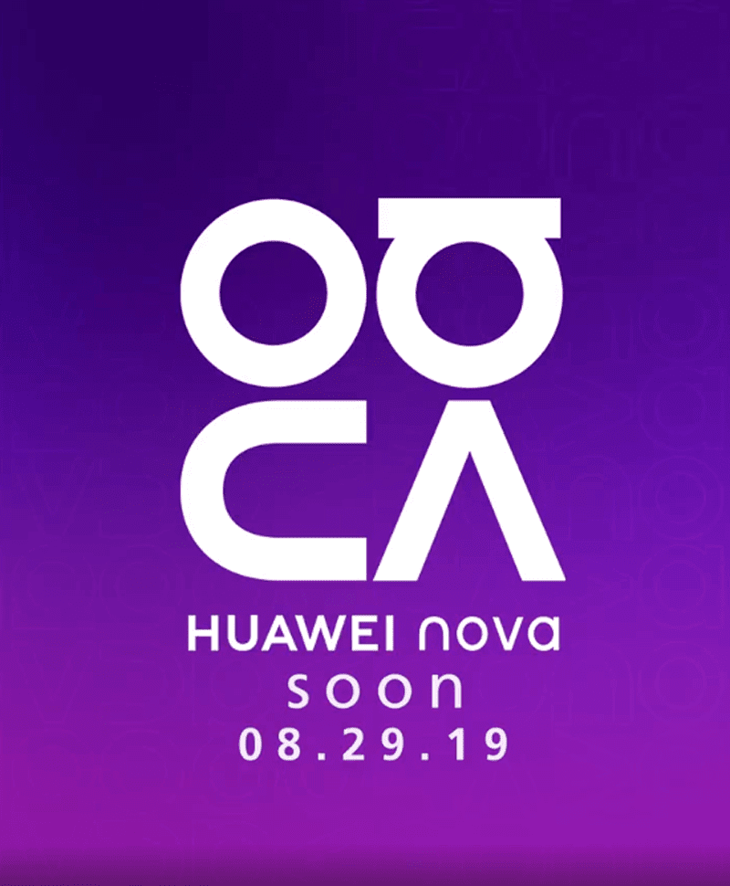 Huawei will unveil a new Nova phone on August 29