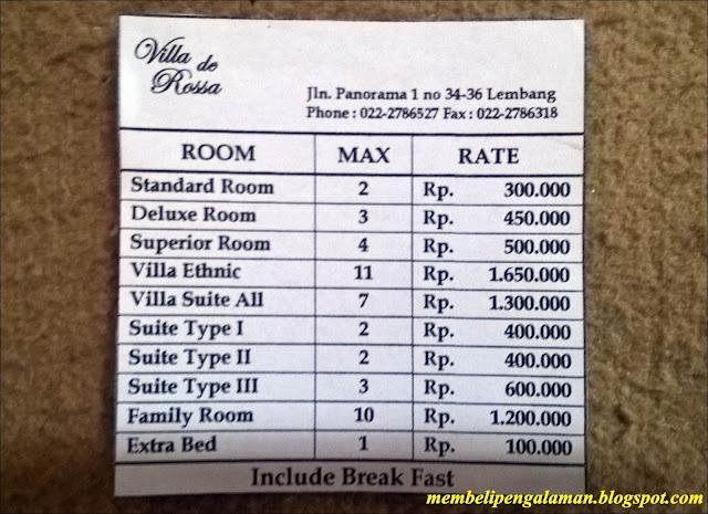 Villa De Rossa Lembang Bandung