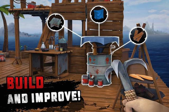 Survival on Raft Ocean Nomad – Simulator v 1.120 APK MOD (Unlimited Money)
