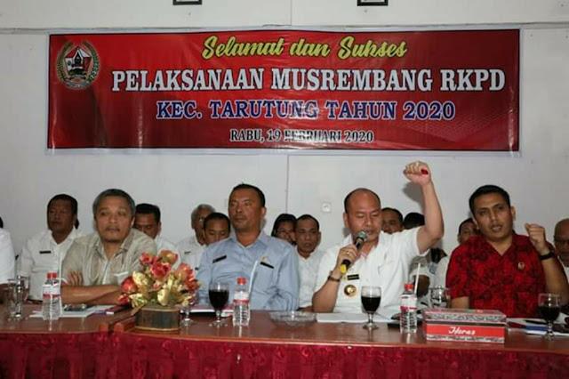 Bupati Taput Pimpin Musrenbang Kecamatan Tarutung
