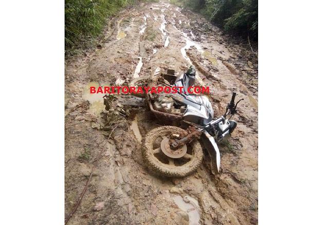 Jalan Lintas Desa Muara Tupuh ke Kota Puruk Cahu Rusak Parah. Butuh Perhatian Pemerintah