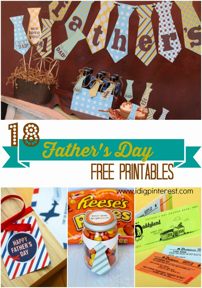 18 Father's Day Free Printables.  The perfect way to give a simple, inexpensive, and heartfelt gift to a great dad!