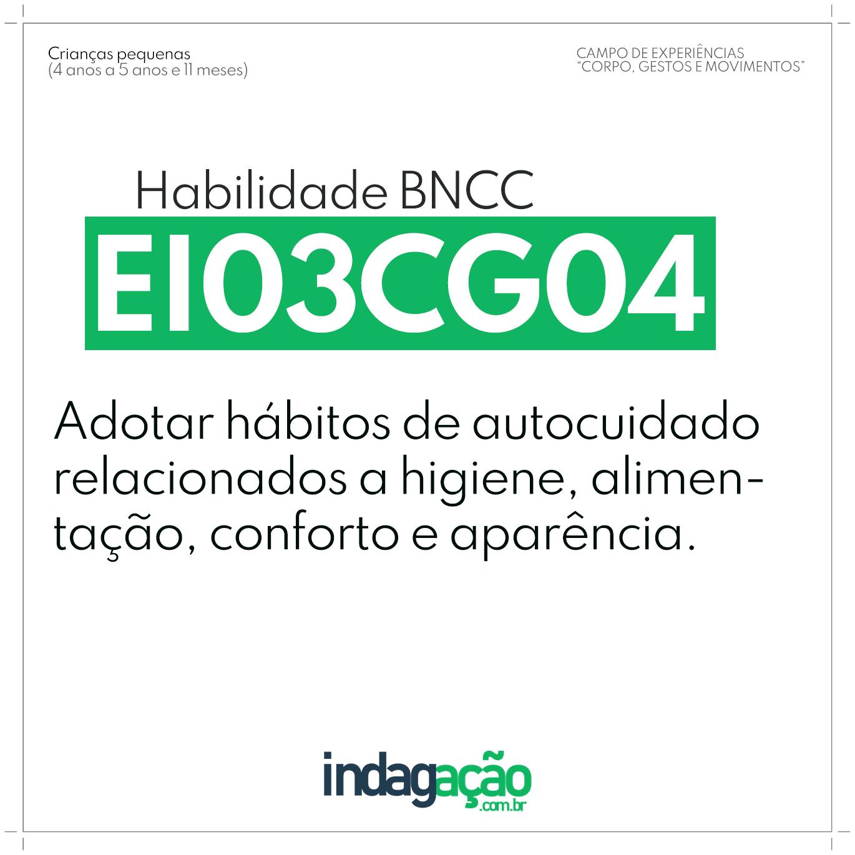 Habilidade EI03CG04 BNCC