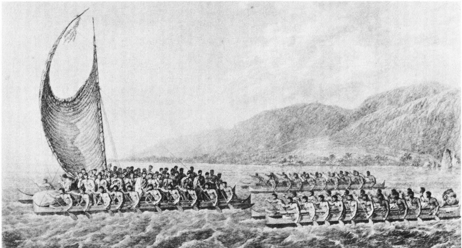 Indigenous Boats Hawaiian Double Canoes