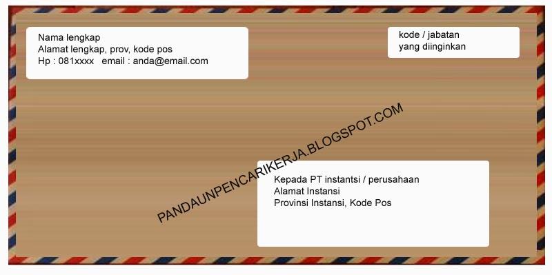 Contoh Format Penulisan Amplop Surat Lamaran Kerja