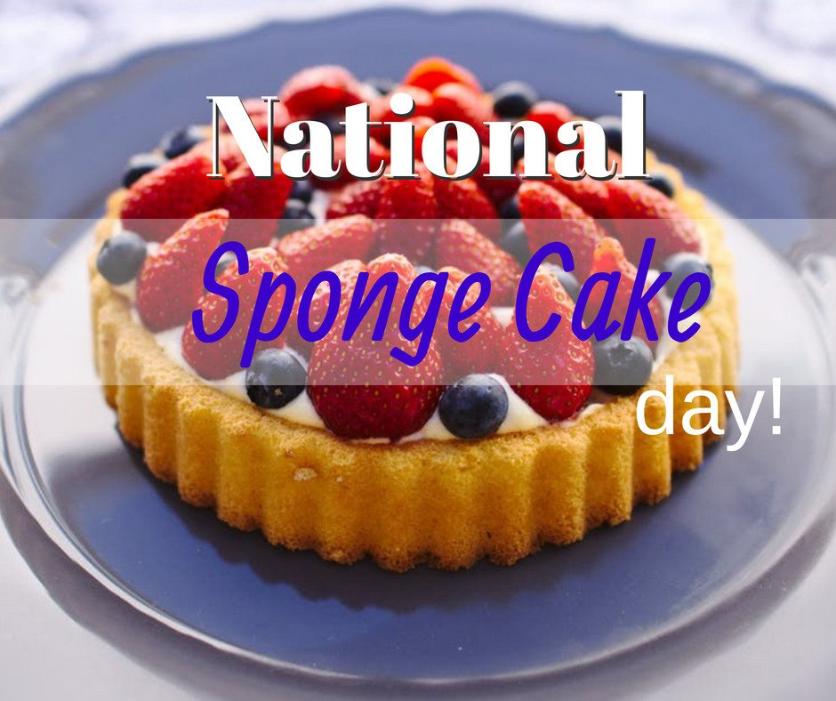 National Sponge Cake Day