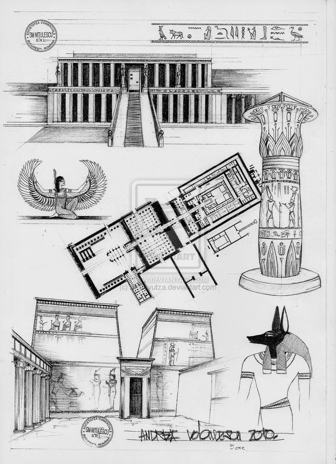02-Egyptian-Architecture-Andrea-Voiculescu-Drawings-of-Historic-Architecture-www-designstack-co