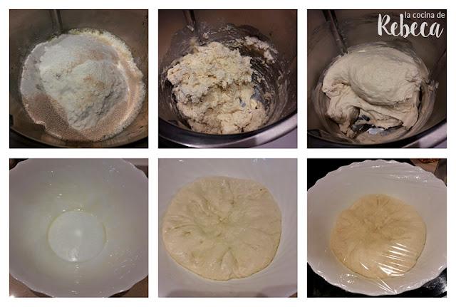 Receta de pan de perrito caliente: la masa y primer reposo