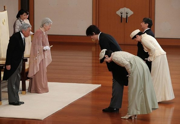 Crown Princess Masako, Princess Aiko, Prince Akishino, Princess Kiko, Princess Mako and Princess Kako